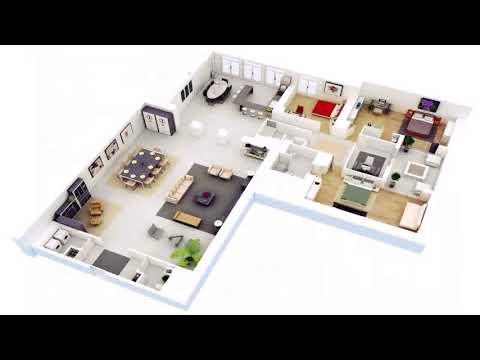 3 Bedroom 3 Bathroom House Floor Plans