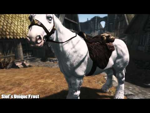 Skyrim Mod Feature: Slof's Unique Frost (horse texture)
