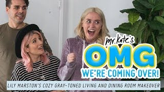 Lily Marston's Cozy, Gray-Toned Living & Dining Room Makeover | OMG We