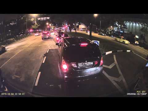 Cars fail to stop for red light