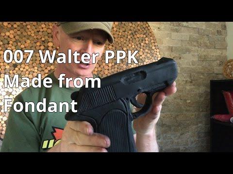 James Bond Gun , Walter PPK , Cake Topper