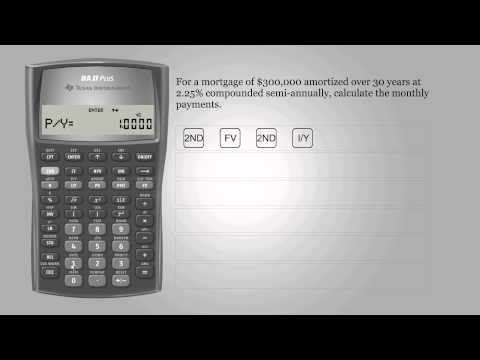 Mortgage payments – Texas Instruments BA II PLUS