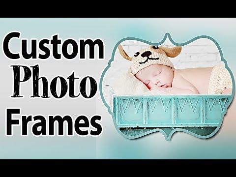 Creating Custom Photo Frames Using Photoshop Masks - Photoshop Tutorial