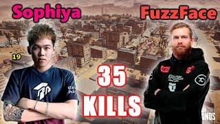 QC Sophiya666 & FaZe FuzzFace - 35 KILLS - M416 + Mini14 - DUO SQUADS! - PUBG