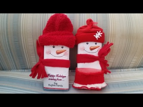 How to make a snowman hug Hershey candy bar wrapper by Carries Kiddie Closet