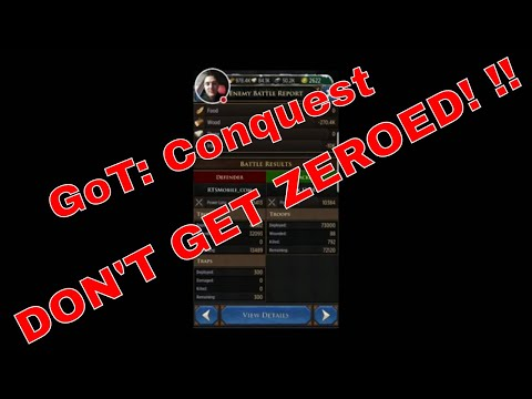 GOT: Conquest - Don't Get Zeroed by Spenders