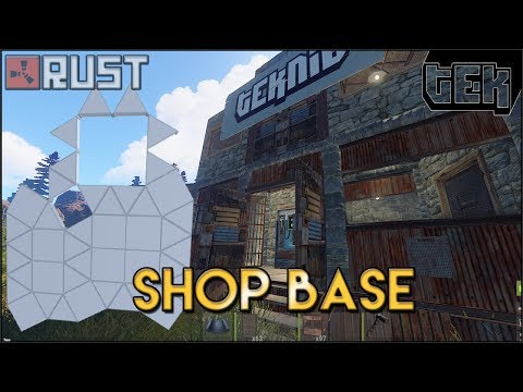 STRONG Shop/Trading Post Base Design - 35k stone and 7k Metal Rust Base Build