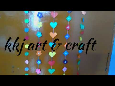 How to make beautiful wall hangings  colorful wall hangings•  wall decoration idea  