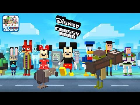 Disney Crossy Road - The Vulture And Frog Delivery Man (iOS/iPad Gameplay)