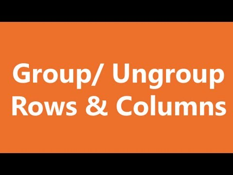 Excel Shortcuts - Group and Ungroup Rows and Columns