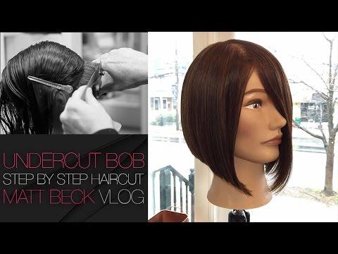 UNDERCUT One Length A-LINE BOB Haircut Step By Step - Matt Beck VLOG 009