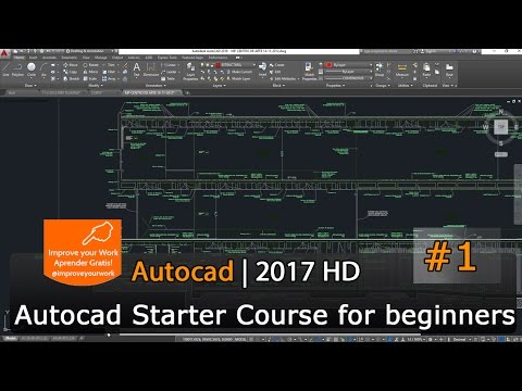 Autocad Starter Course 2017 - Tutorial for beginners - First learn lesson 01 HD