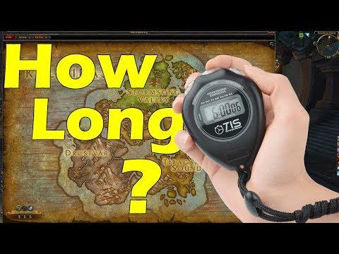 HOW LONG does it take to travel Across Kul'Tiras/Zandalar ?? (BFA Beta)