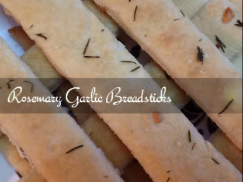Breadsticks - Rosemary Garlic - Homemade Easy Recipe - SuperSimpleKitchen
