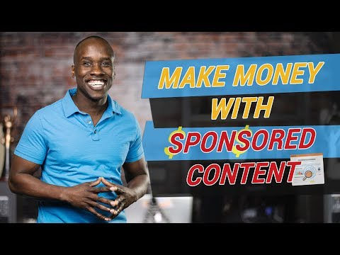 How to Make Money with Sponsored Content