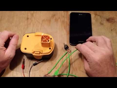 12 volt drill battery to cell phone.