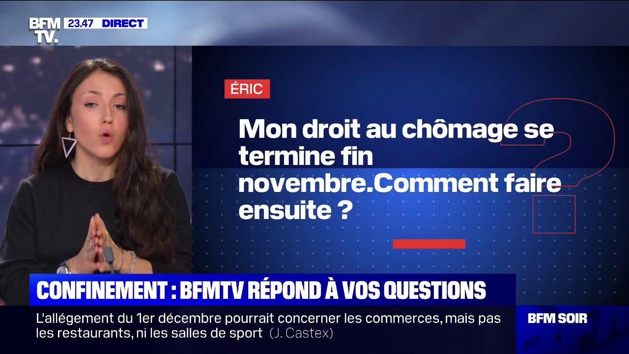 Mon droit au chômage se termine fin novembre, comment faire ensuite ? - BFMTV répond à vos questions