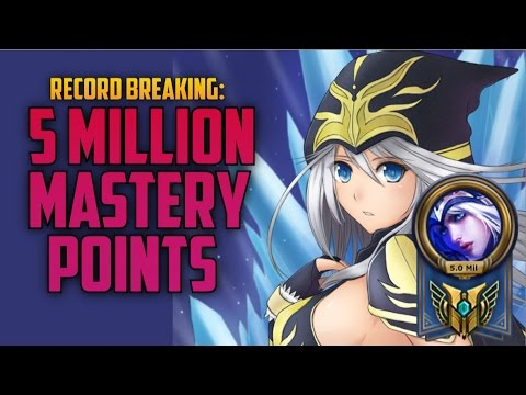 5,000,000 MASTERY POINTS ASHE- Highest Mastery Points on a Single Champion