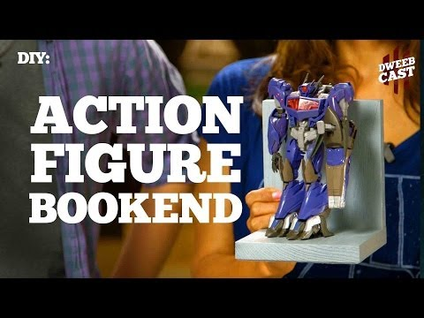 DIY - Action Figure Bookends | DweebCast | OraTV