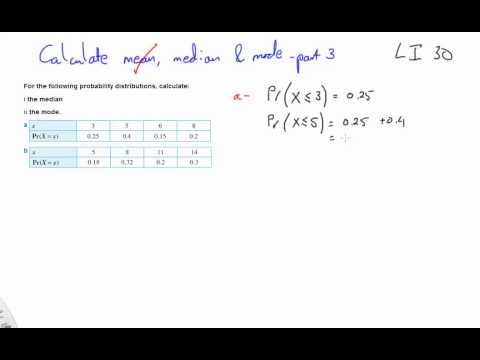 30 Calculate mean, median and mode part 3