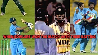 When Bowlers Won the Match for India with the Bat | Best Match Winning Knocks by Indian Tailenders!!