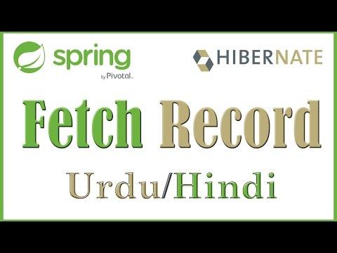 Spring MVC Hibernate JQuery Maven | Tutorial 7 Fetch Record Hibernate Debug (Urdu & Hindi)