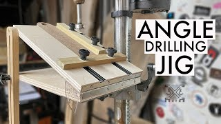 Simple Drill Press Table that TILTS for Angled Holes! (even works with benchtop drill press)