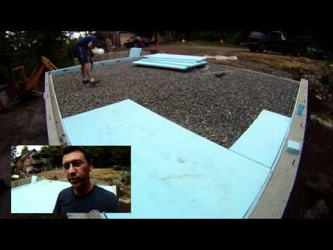 Radiant Pex Tubing Slab Installation - 14 - My Garage Build HD Time Lapse