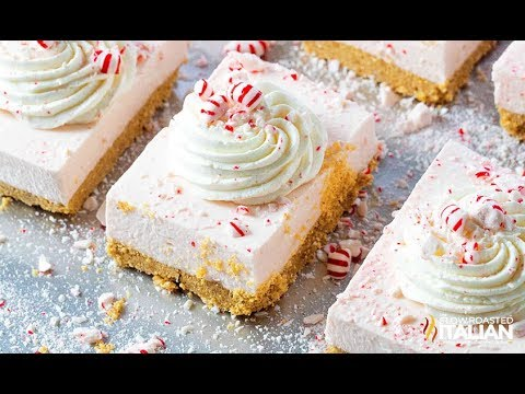 No-Bake Peppermint Cheesecake Bars