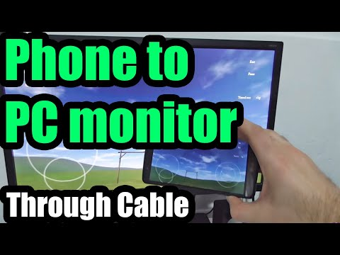 How to connect Smartphone to PC Monitor through Cable (LG G3)
