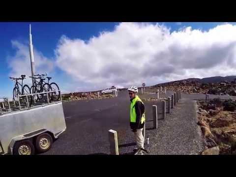 Mt Wellington (1271m) cycle descent, Hobart -  timelapse