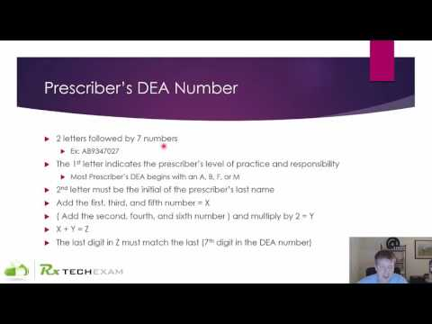 PTCB Math: Prescriber DEA Number Check