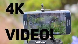 Samsung Galaxy S6 Edge: 4K Cinematic Video Test!
