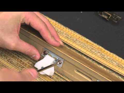 How to Change the Cord Lock and Idlers on a Woven Wood Shade