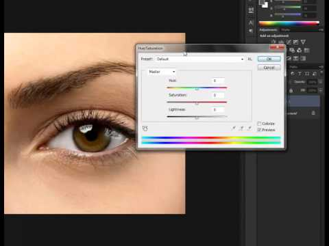 Tutorial How to change eyes color using Adobe Photoshop CS6