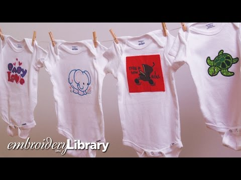 How to Hoop & Embroider On a Onesie