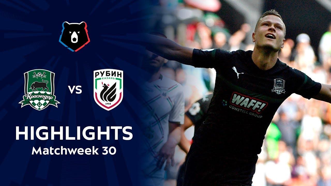 Highlights FC Krasnodar vs Rubin (1-0)   RPL 2018/19