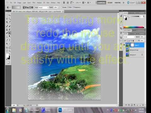 Making transparent edges picture using Photoshop CS5