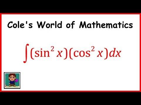 Integral of (sin^2x)(cos^2x) ❖ Calculus 1 ❖ Trig Integrals