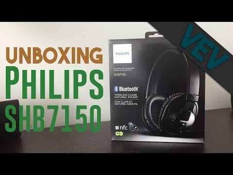 Unboxing the Philips SHB7150 Bluetooth Headphones