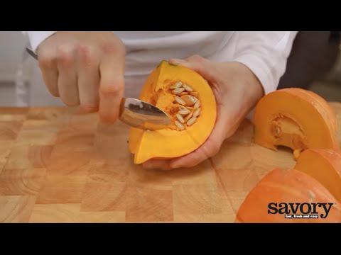 Peel and cut a squash – Savory