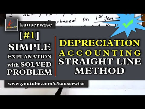 [#1]Depreciation accounting - (Straight line method with solution) :-by kauserwise