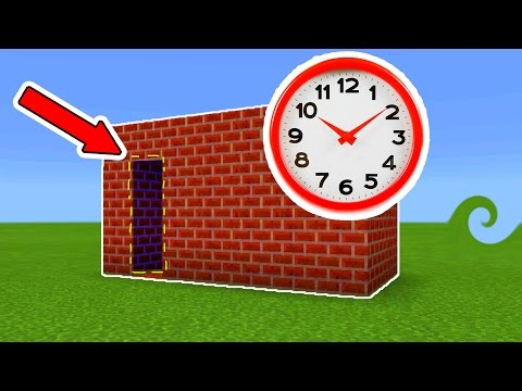 HOW to MAKE a TIME MACHINE on Minecraft Pocket Edition!!!