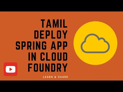TAMIL HOW TO DEPLOY SPRING BOOT APP IN CLOUD FOUNDRY DEMO