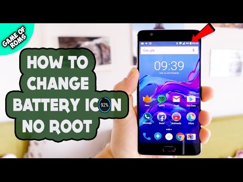 HOW TO CHANGE BATTERY ICON 100% STOCK ROM (WITHOUT ROOT)