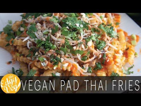 Pad Thai Fries - FryDay Night Date Night | The Edgy Veg