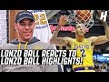 Lonzo Ball Reacts To Lonzo Ball Highlights