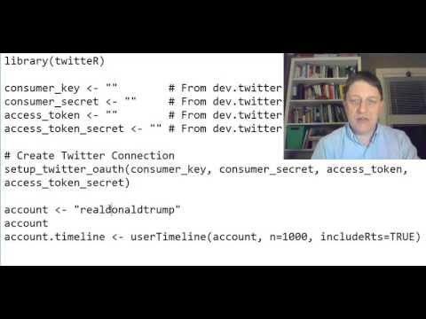 A First Program using R and TwitteR to Collect someone's Tweets