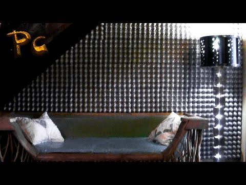 Design of the walls of the egg trays. Дизайн стен из яичных лотков.