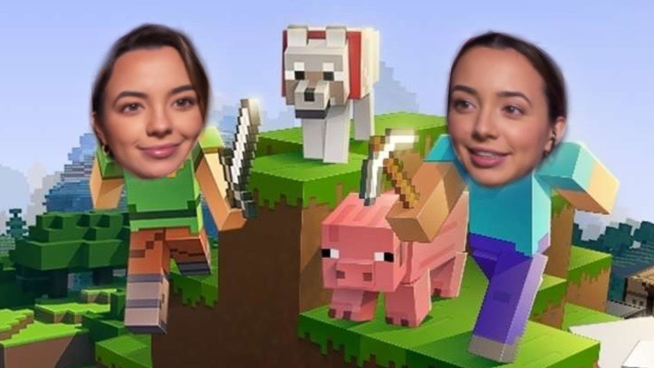 PLAYING MINECRAFT - Merrell Twins Live